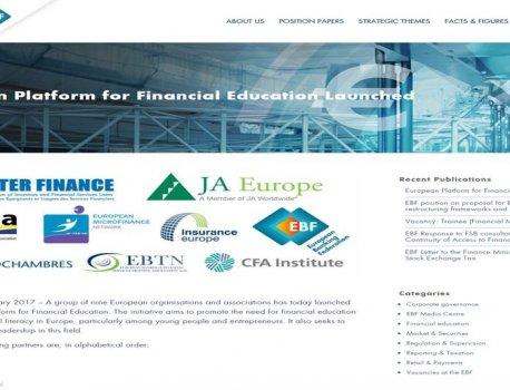 BRUSELJ – Evropska federacija investitorjev vzpostavila Evropsko platformo za finančno izobraževanje in opismenjevanje..