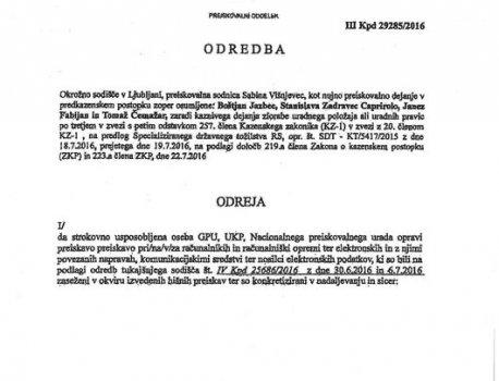Danes razkrita Odredba Okrožnega sodišča nesporno potrjuje - režirana sanacija slovenskih bank je dejansko ROP STOLETJA,...