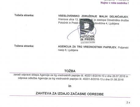 ATVP – VZMD pred Upravnim sodiščem zoper Agencijo sprožil postopke zaradi sporne zavrnitve zahteve za vpogled v spis v p...