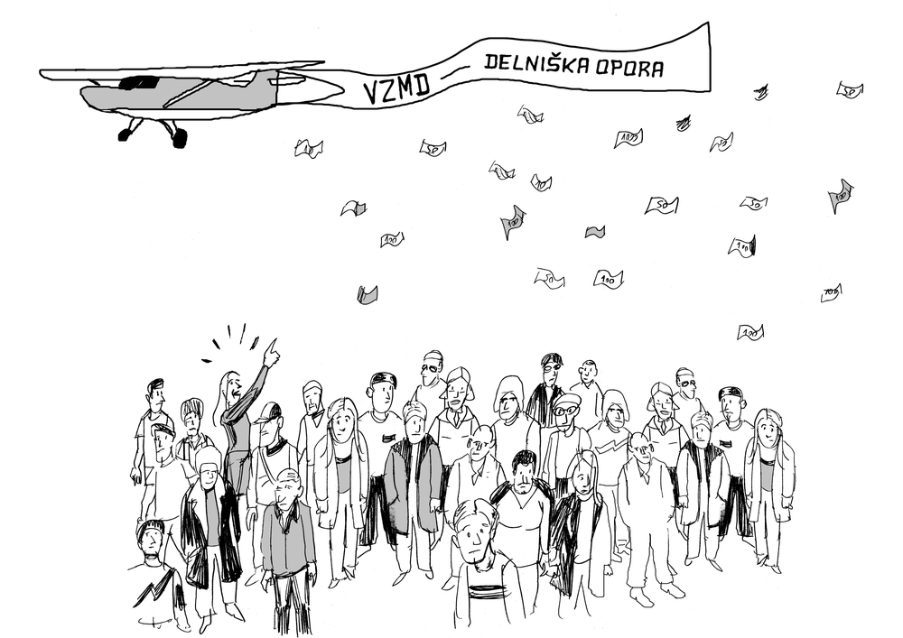 Karikatura Delniška OPORA